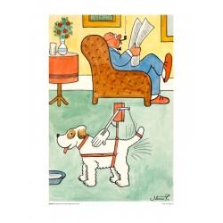Opfindelse for utålmodige hunde (30x40cm)