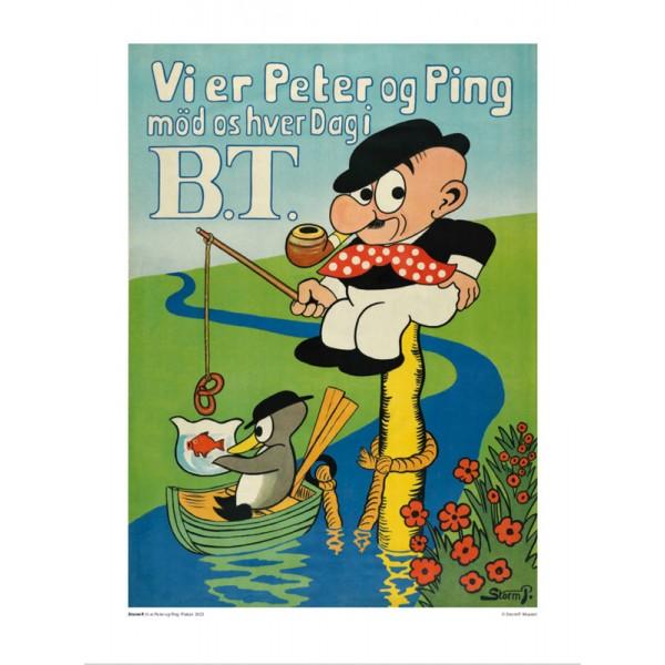 Vi er Peter og Ping (30x40cm)