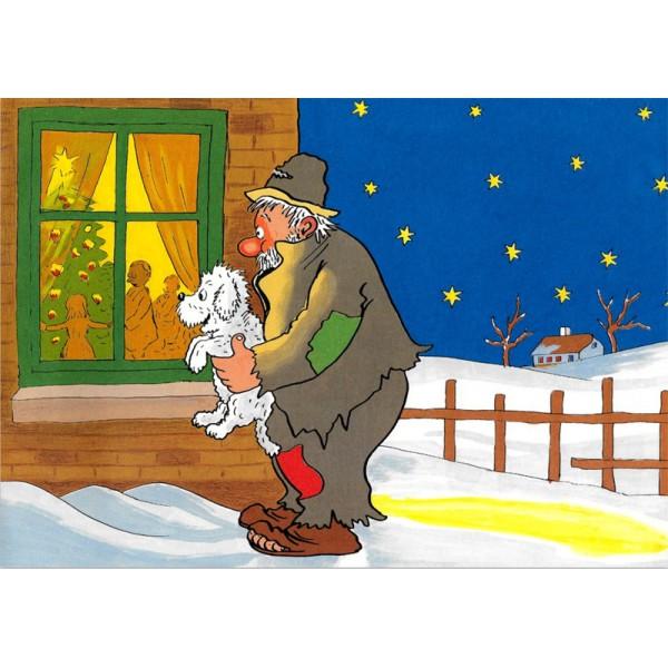 Julekort med vagabond (A5)